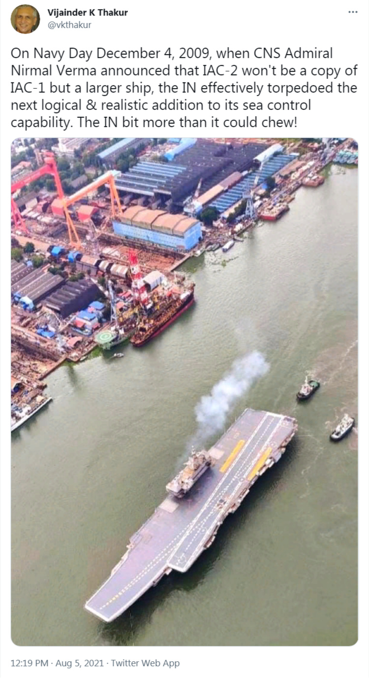 INS Vikrant-Future Indian aircraft carriers - Page 3 Screen10