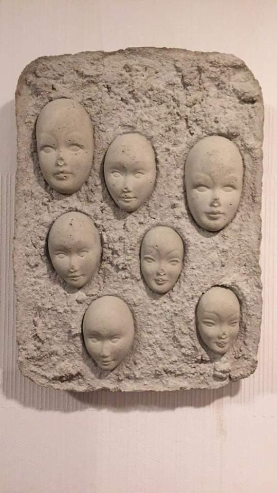 Intriguing face masks wall plaque Gittam? 52075810