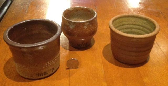 8 Stoke Gabriel Lotus Pottery mini Planter Pot Holder what are the numbers? Fullsi12