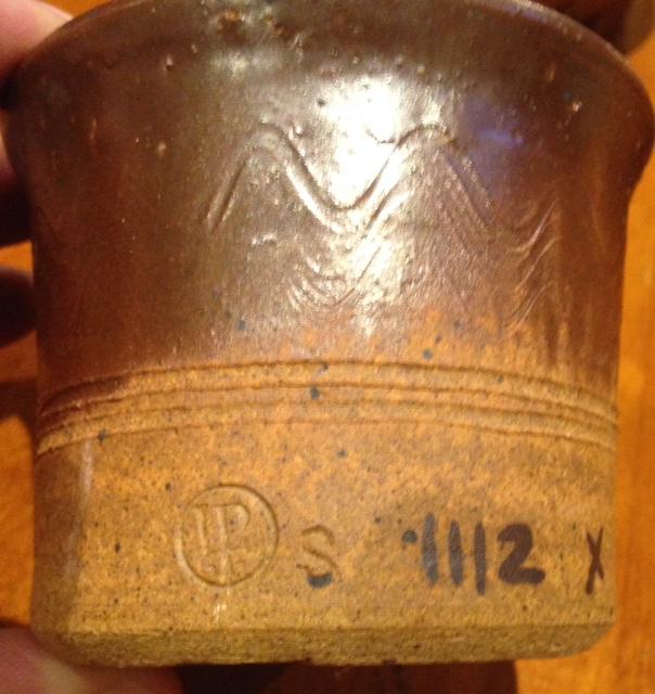 8 Stoke Gabriel Lotus Pottery mini Planter Pot Holder what are the numbers? Fullsi14