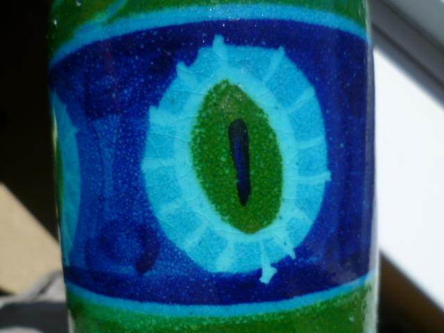 Bitossi Colours inspired Italian 8 inch vase P1320215