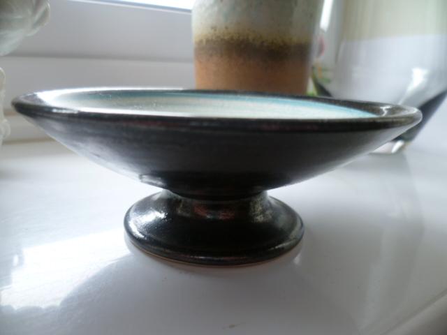 A little pedestal bowl/candle holder - Priddoe Pottery  P1330217