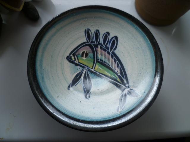 A little pedestal bowl/candle holder - Priddoe Pottery  P1330218