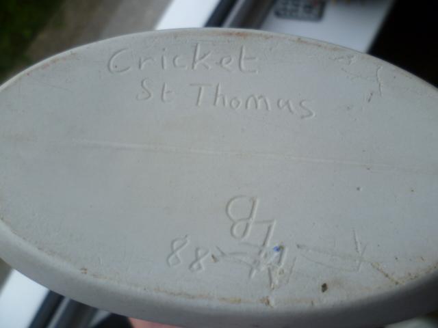 Cricket St Thomas,  LB mark, late 1980's Vase - Ian Batten?  P1330224