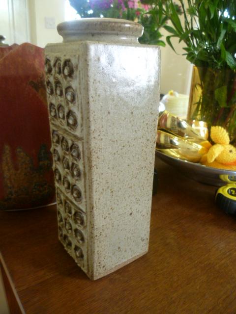 Slab built Stoneware vase - Kolonyama Pottery, Lesotho, South Africa P1370911