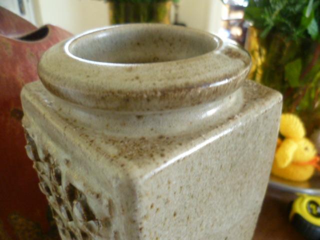 Slab built Stoneware vase - Kolonyama Pottery, Lesotho, South Africa P1370912