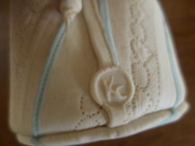 Lace effect Ceramic Bag with KC mark P1380116