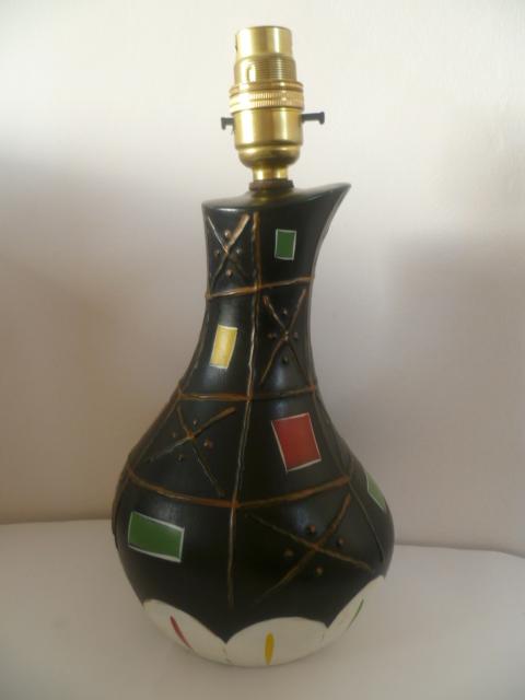 An English version on 1950/60s Italian Pottery Lamp P1410715
