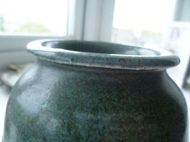 AW Initials Stoneware Pot Vase P1420812