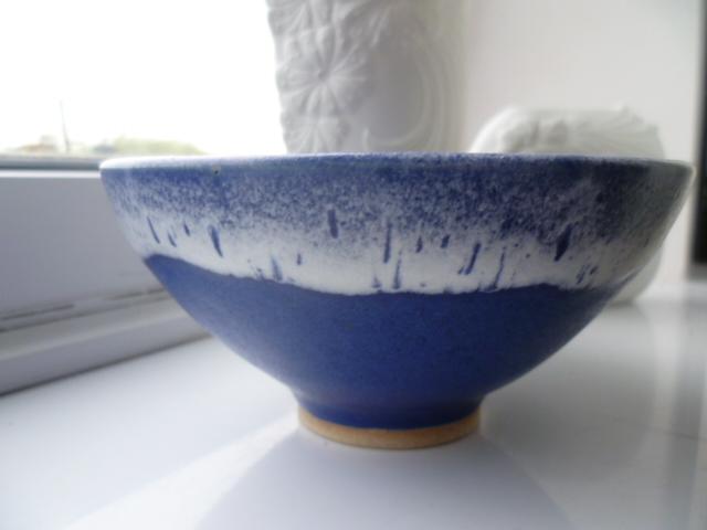 A pleasing bowl with raised monogram SK / Sam? P1600110