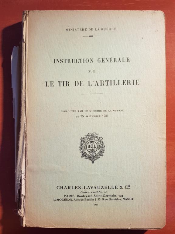 Documentation d'un officier d'artillerie 20181116