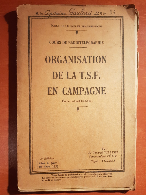 Documentation d'un officier d'artillerie 20181118