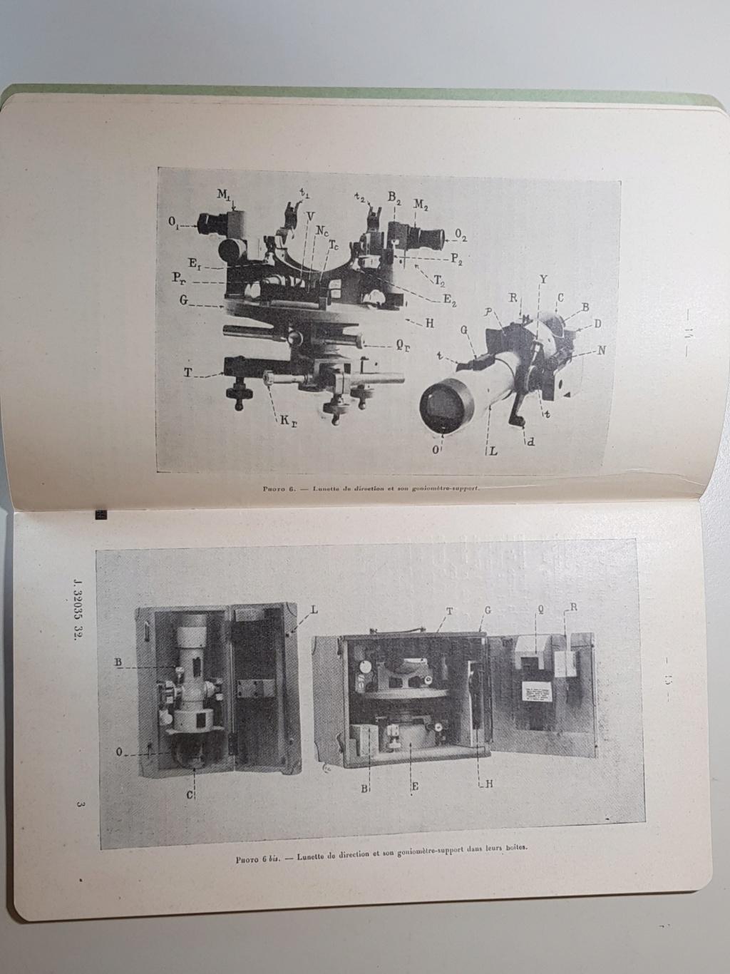 Materiel section de réglage par coups fusants hauts 1924 20190512
