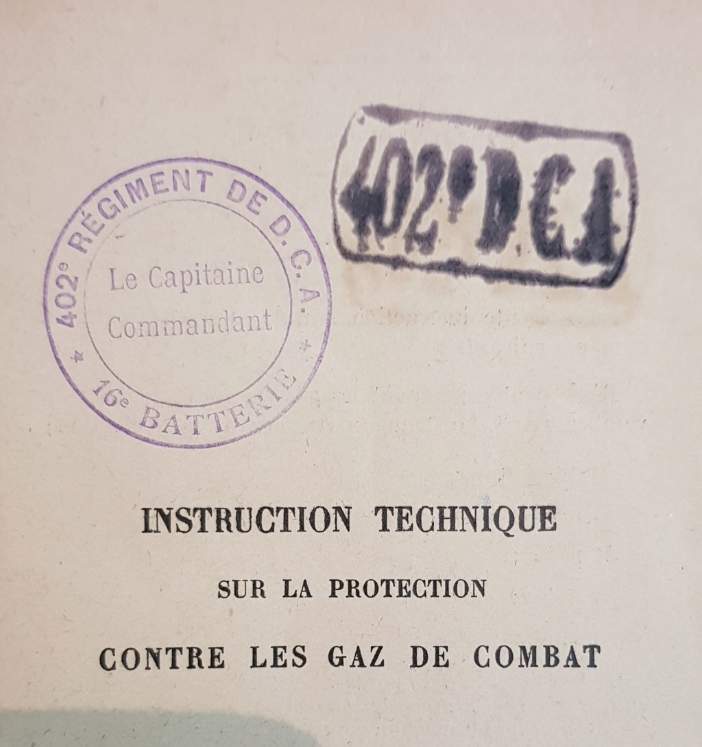 Instruction technique de protection contre les gazs - Edition 1929 20190617