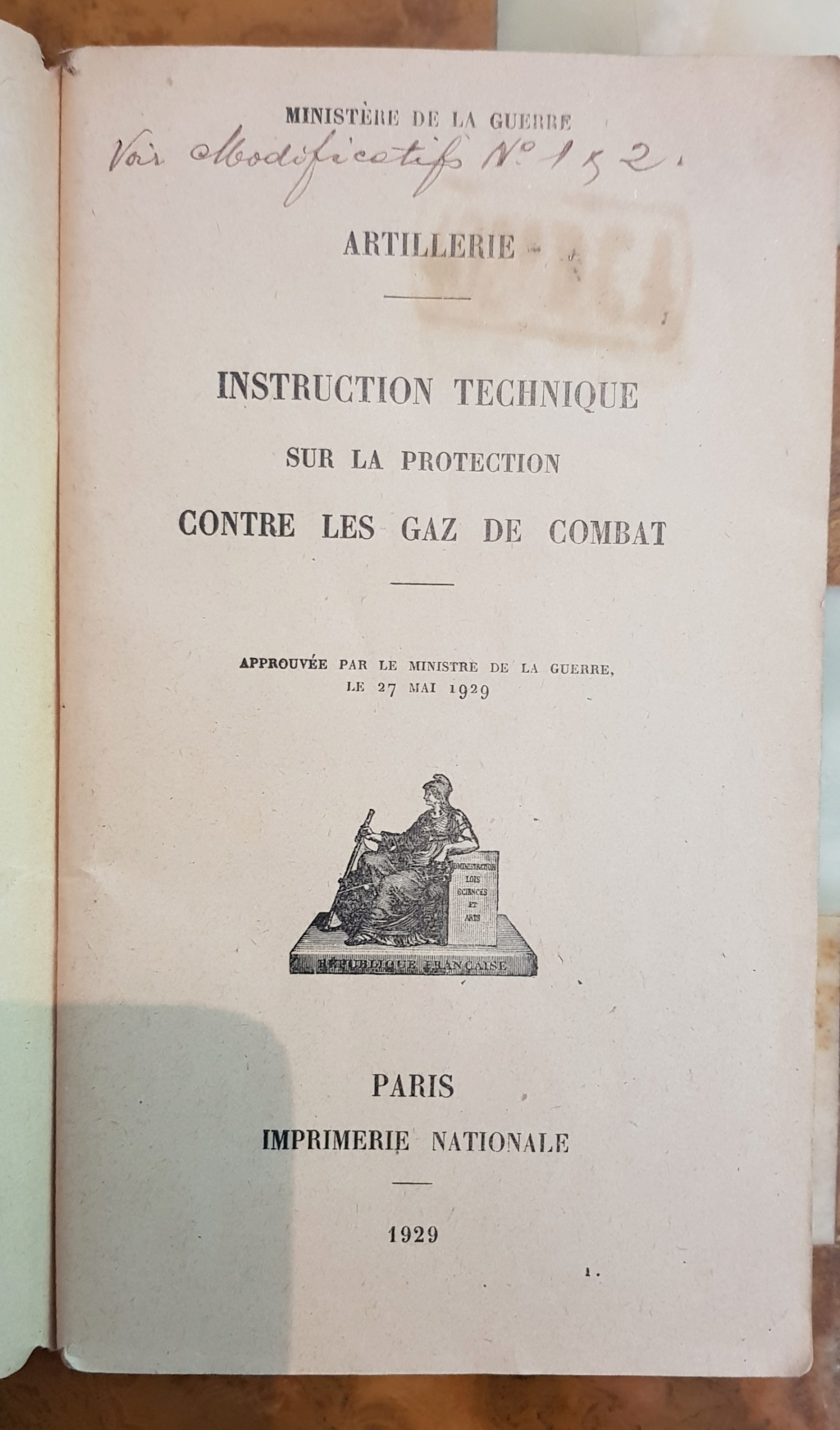 Instruction technique de protection contre les gazs - Edition 1929 20190618