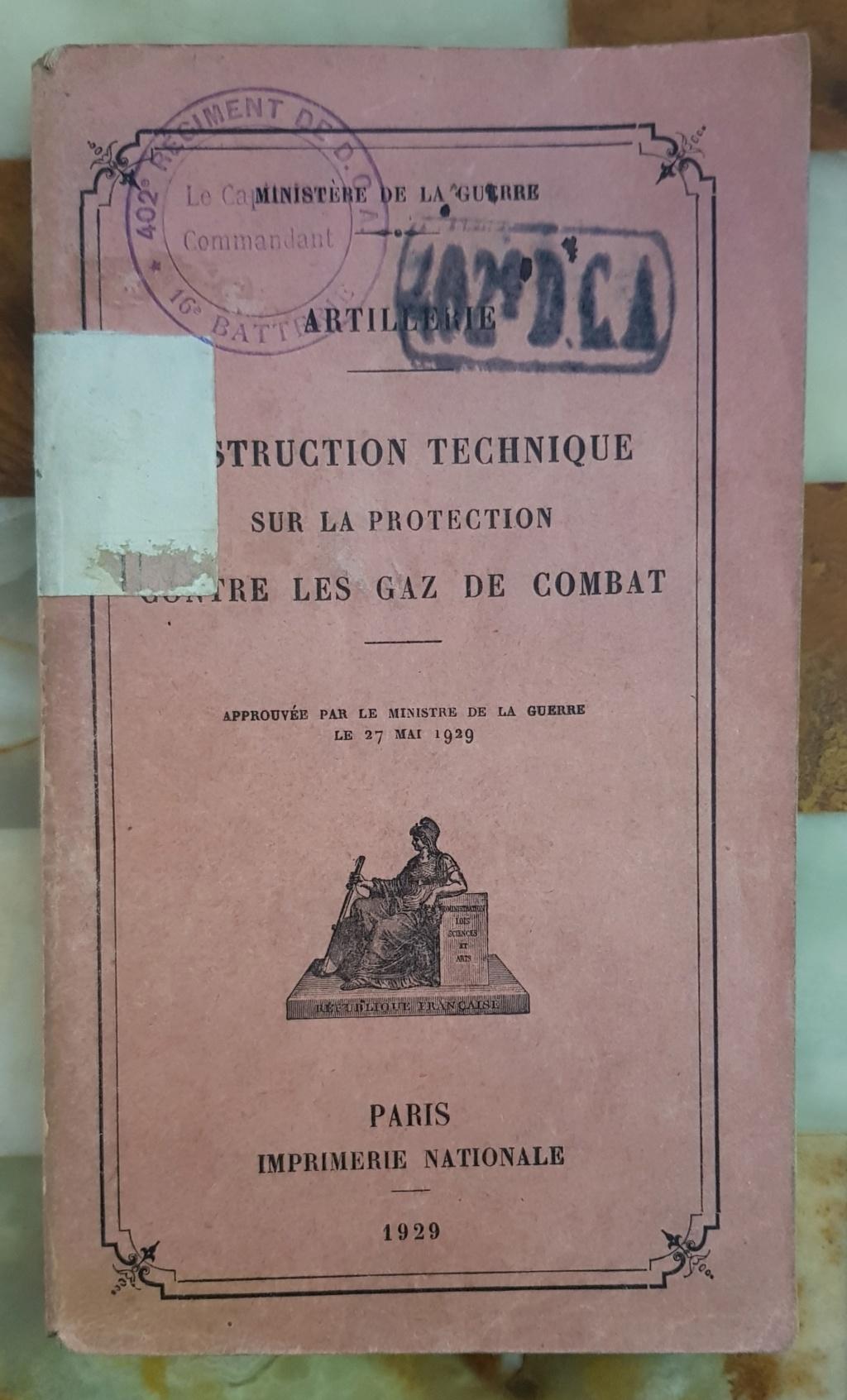 Instruction technique de protection contre les gazs - Edition 1929 20190619
