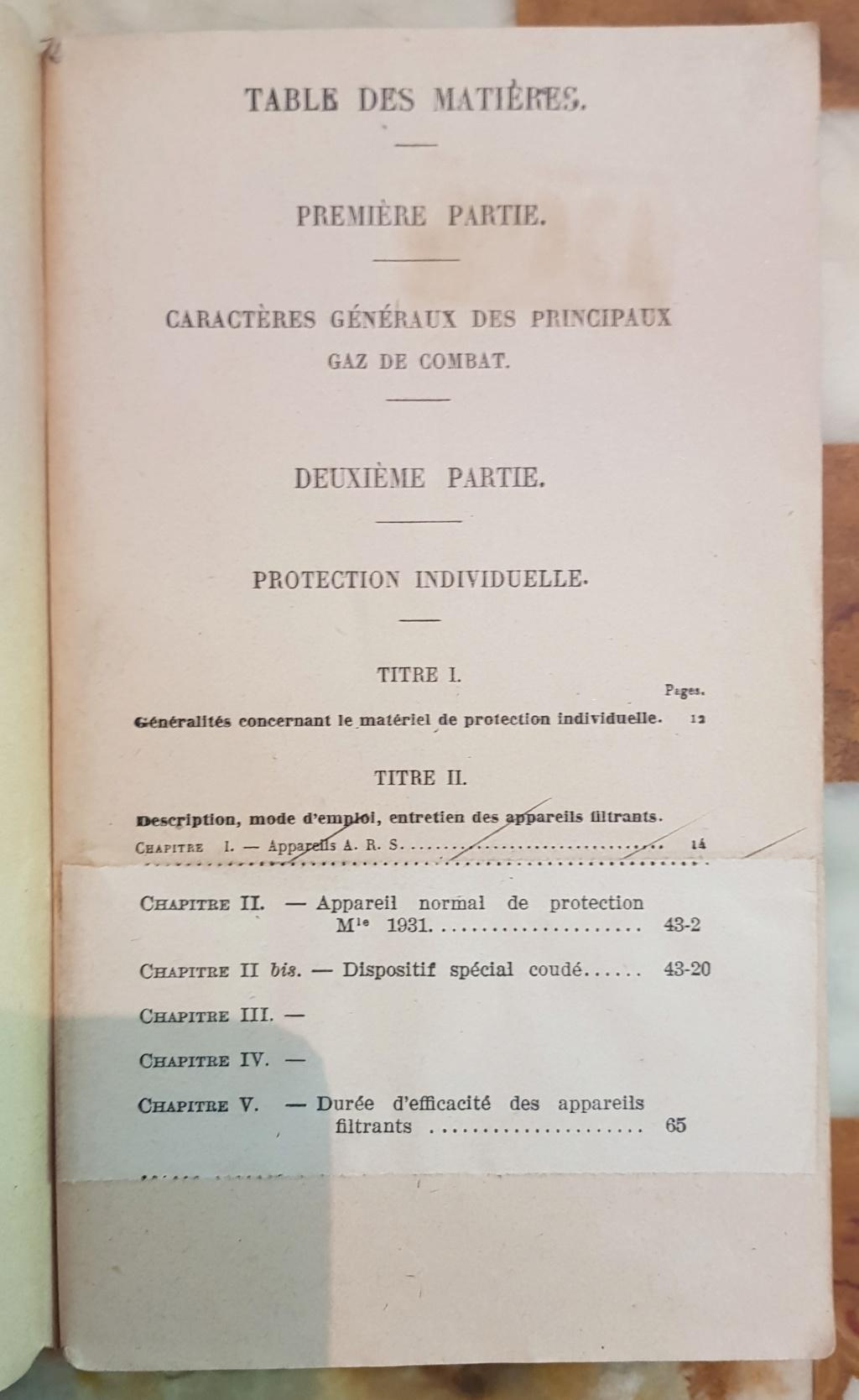 Instruction technique de protection contre les gazs - Edition 1929 20190621