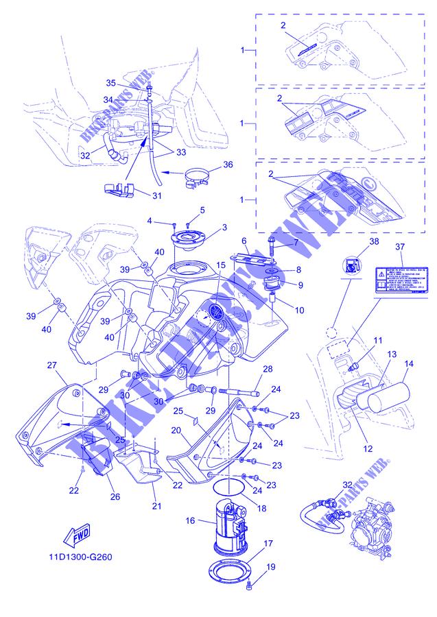 Recherche bulle, protection plastoque réservoir XT660z  2008/2012 Piece_10