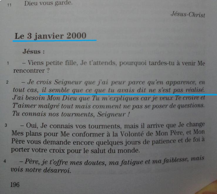 Agnès-Marie JOIE de DIEU... messages. 3janv10