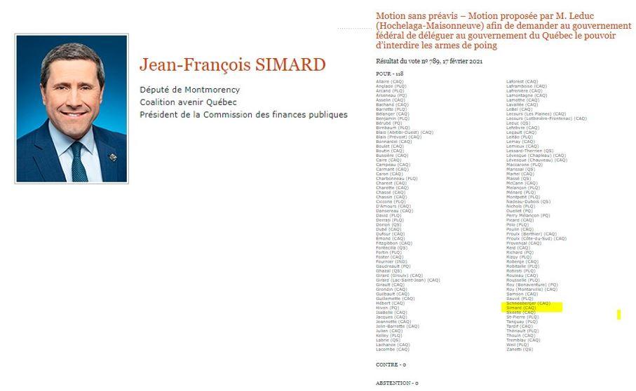 Demande au Député Jean Francois Simard de la CAQ Jfs_211