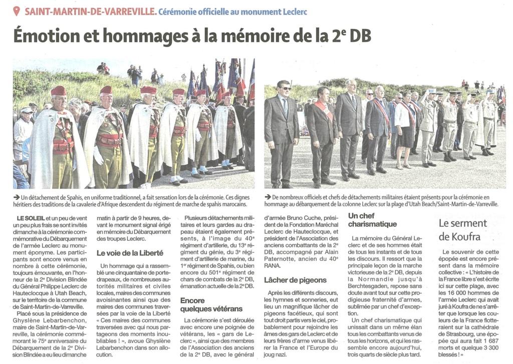 St Martin de Varreville 2019 dans la presse locale 2dbpdl10