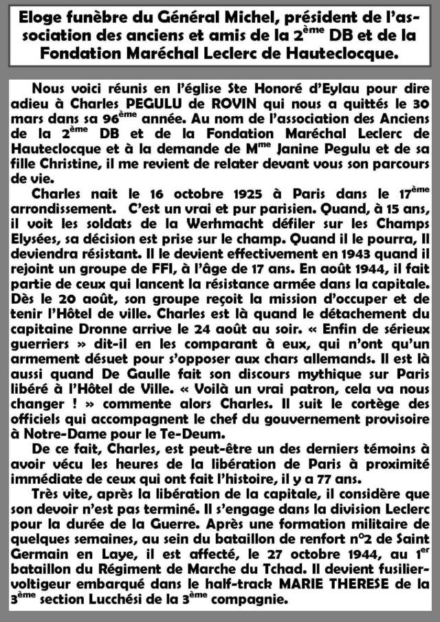 Charles PEGULU de ROVIN (I/RMT) † 30/03/2021 Cp211