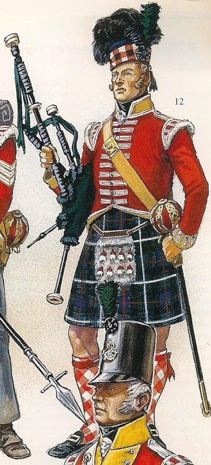 42nd (Royal Highland) Regiment of Foot en 1815 au 1/72 92_zom12