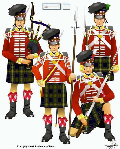 42nd (Royal Highland) Regiment of Foot en 1815 au 1/72 92nd-h11