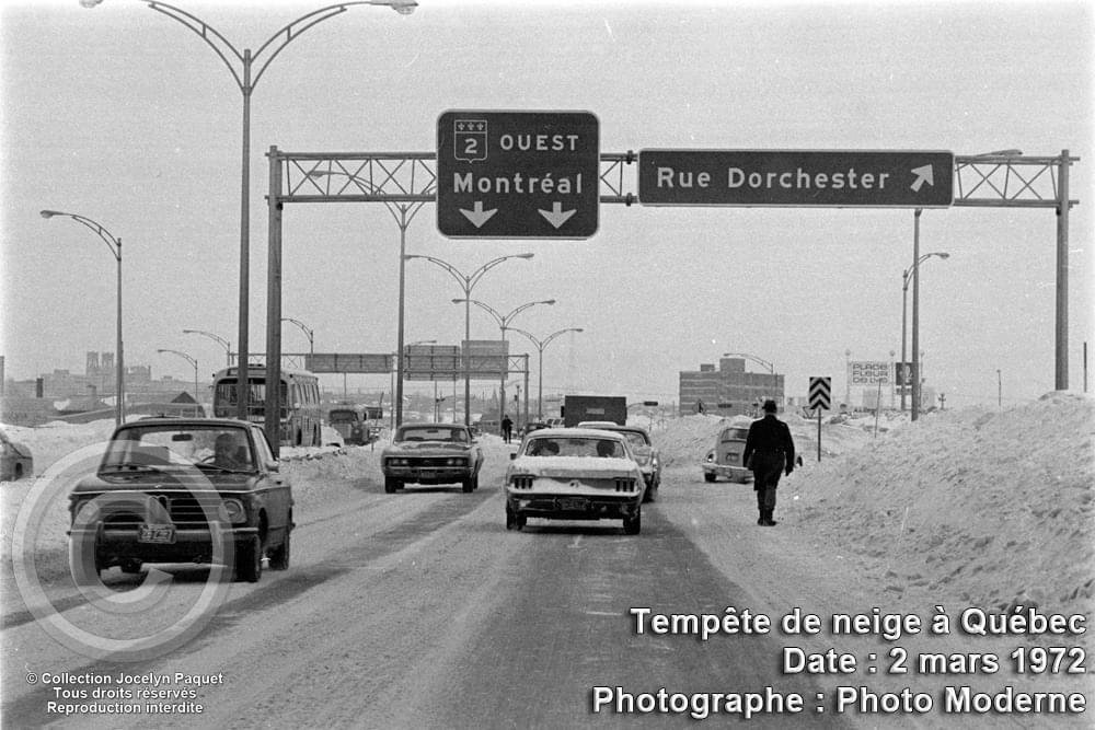 Photo 2 mars 1972 - tempete de neige a Montréal Mustan10