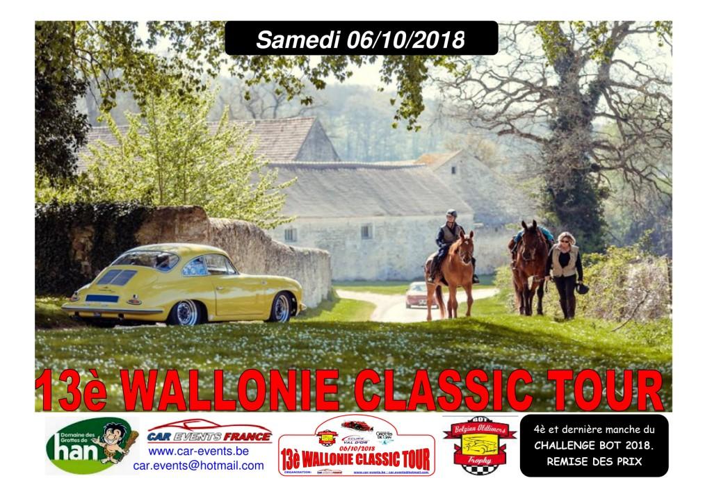 13ème Wallonie Classic Tour 06/10/2018 Affich11