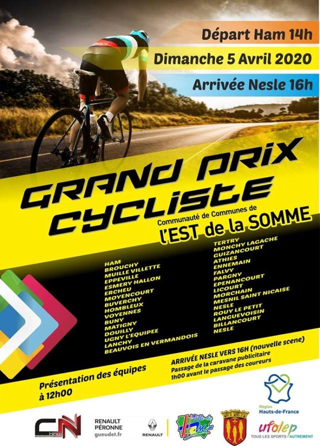 grand prix cycliste l'est de la somme (ham/nesle) dimanche 5 avril 2020 89016910