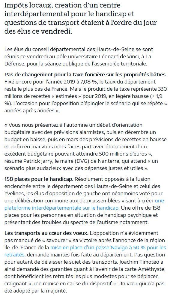 Informations sur les Hauts-de-Seine Clip1072