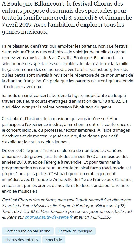 Concerts et spectacles à la Seine Musicale de l'île Seguin Clip1087