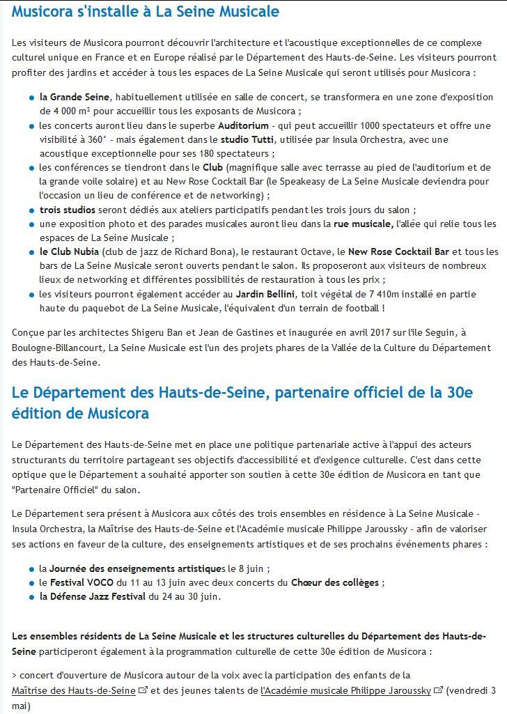 Expositions et évènements à la Seine Musicale de l'île Seguin Clip1185