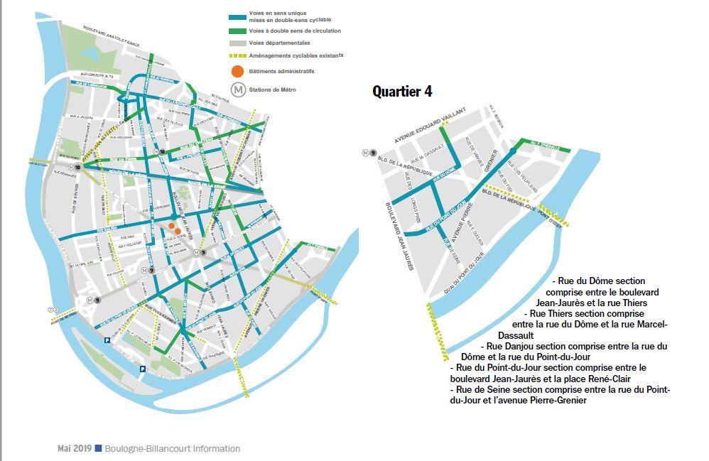 Carte des pistes cyclables Clip1219