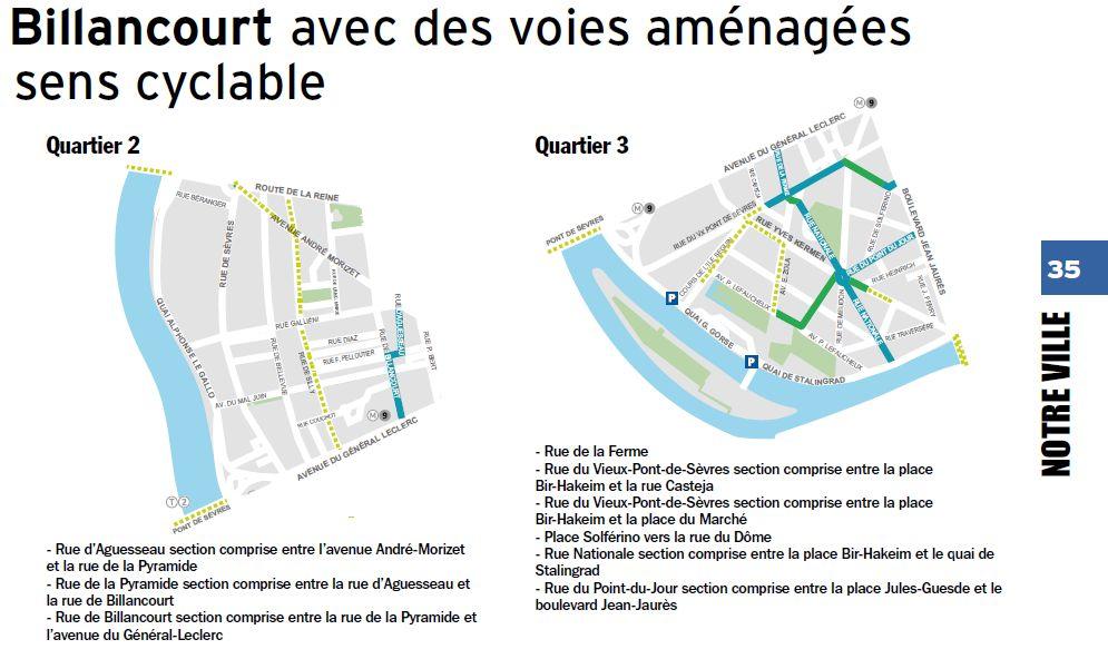 Carte des pistes cyclables Clip1220