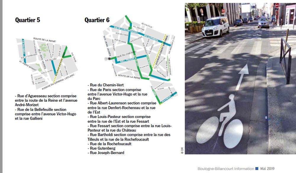 Carte des pistes cyclables Clip1222