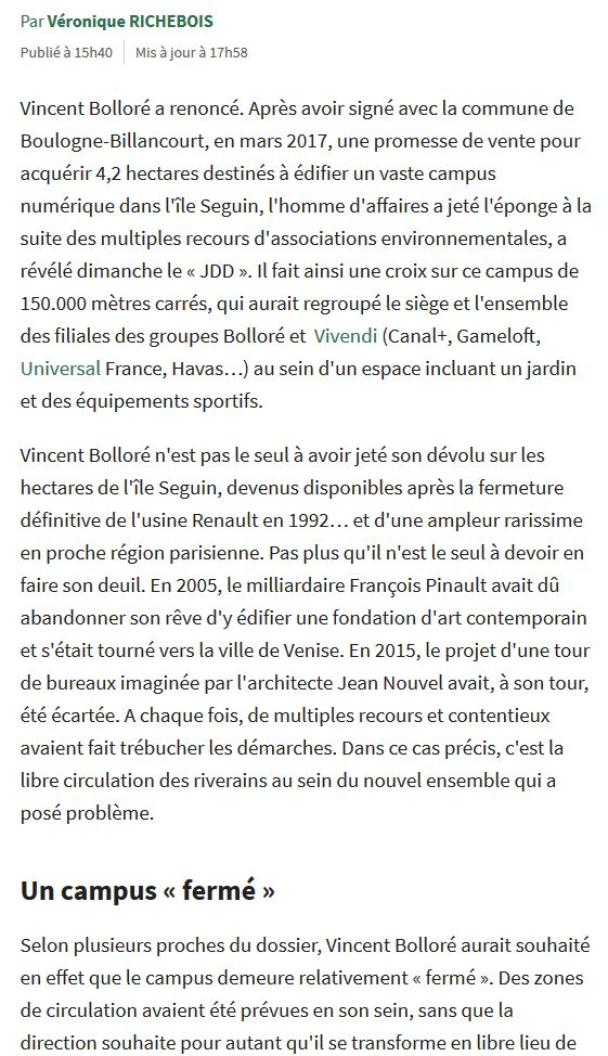 Campus Boulogne-Studios / Vivendi Clip1274
