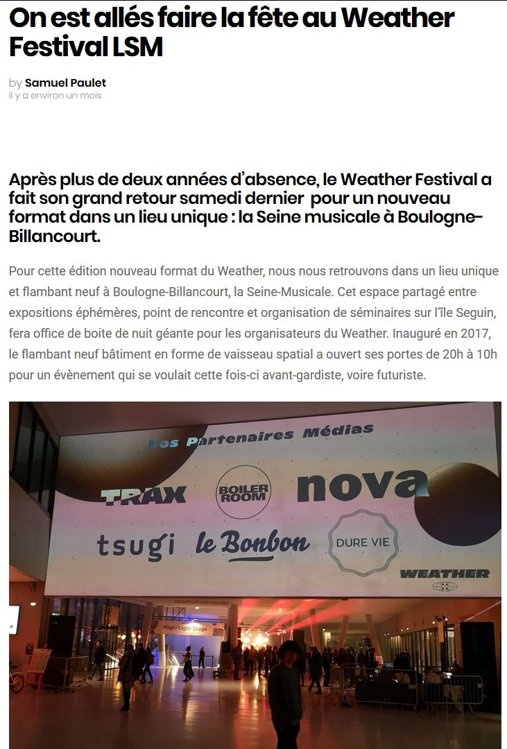 Concerts et spectacles à la Seine Musicale de l'île Seguin Clip1340