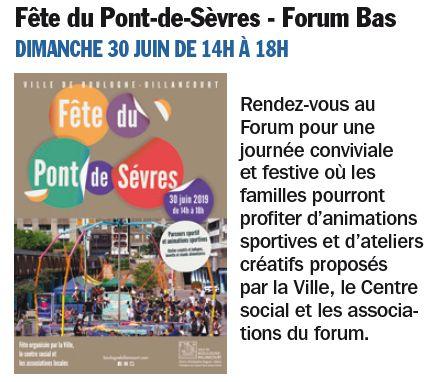 Fête des associations du Pont-de-Sèvres Clip1366