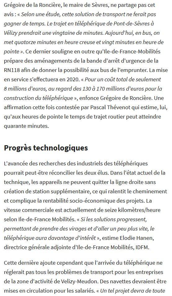 Téléphérique Boulogne-Billancourt (Pont de Sèvres) - Vélizy Clip1400