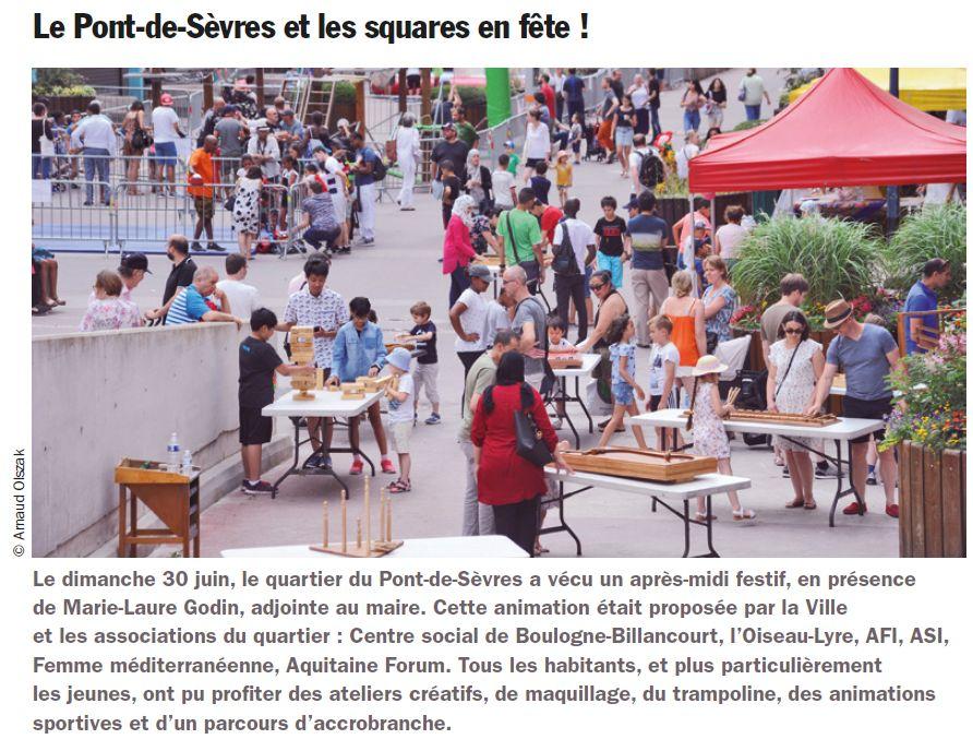 Fête des associations du Pont-de-Sèvres Clip1571