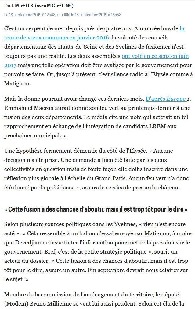 Fusion des départements des Hauts de Seine et des Yvelines Clip1646