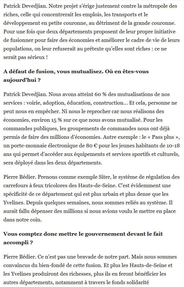 Fusion des départements des Hauts de Seine et des Yvelines Clip1682