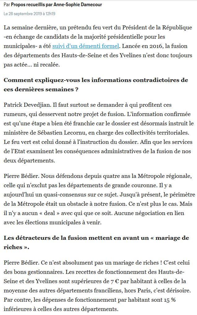 Fusion des départements des Hauts de Seine et des Yvelines Clip1683