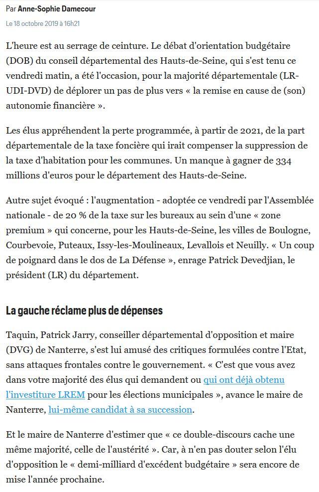 Informations sur les Hauts-de-Seine Clip1747