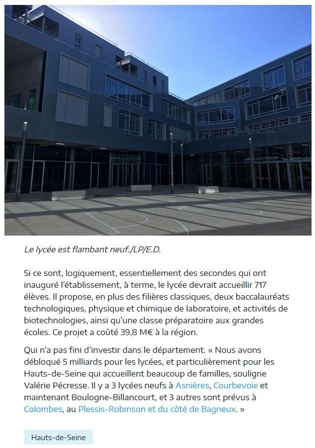 Informations sur le lycée du trapèze Clipb349
