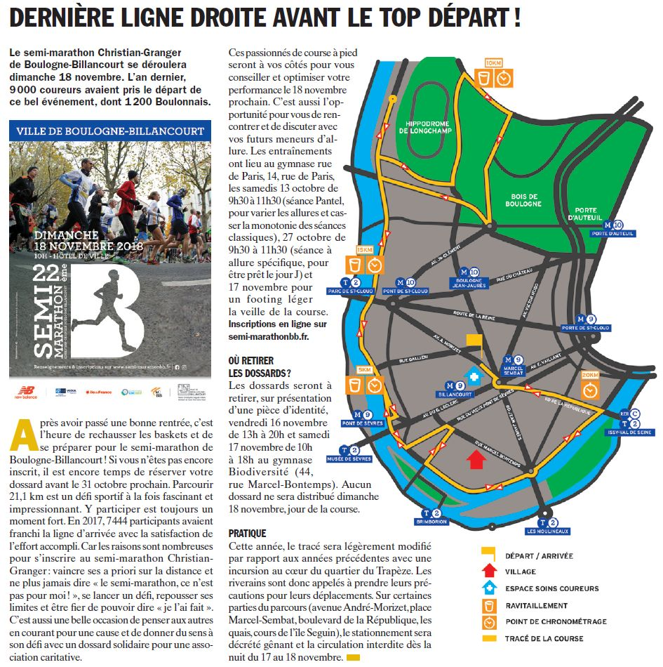 Semi-marathon de Boulogne-Billancourt Clipb365