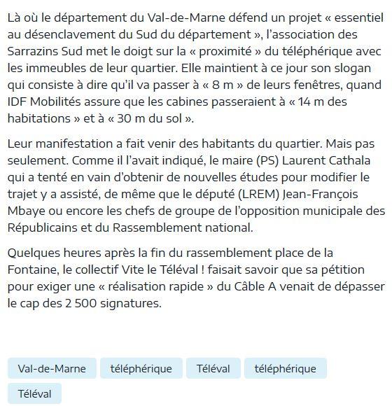 Téléphérique Boulogne-Billancourt (Pont de Sèvres) - Vélizy Clipb411