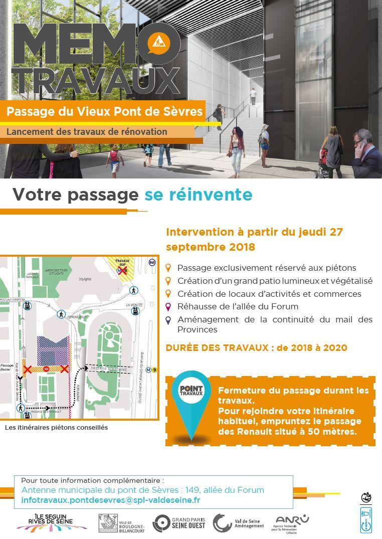 Rénovation du passage commercial du quartier du Pont de Sèvres Clipb454
